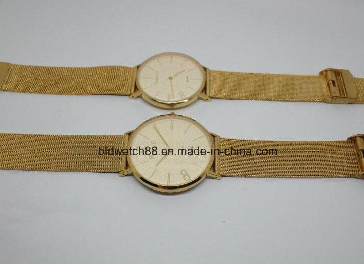 2017 Steel Mesh Military Watches Golden Men Luxury Brand Quartz Watch Sports Watches