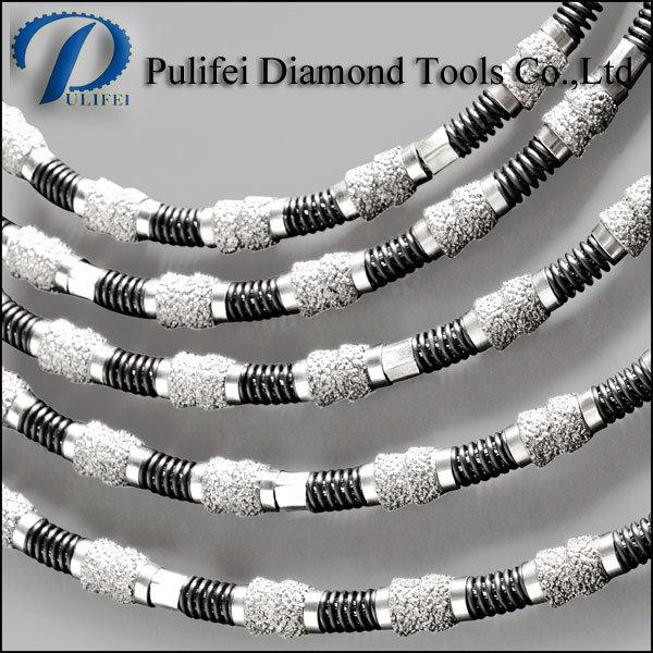 Reinforce Concrete Multi Cutting Brazed Bead Diamond Spring Wire Saw