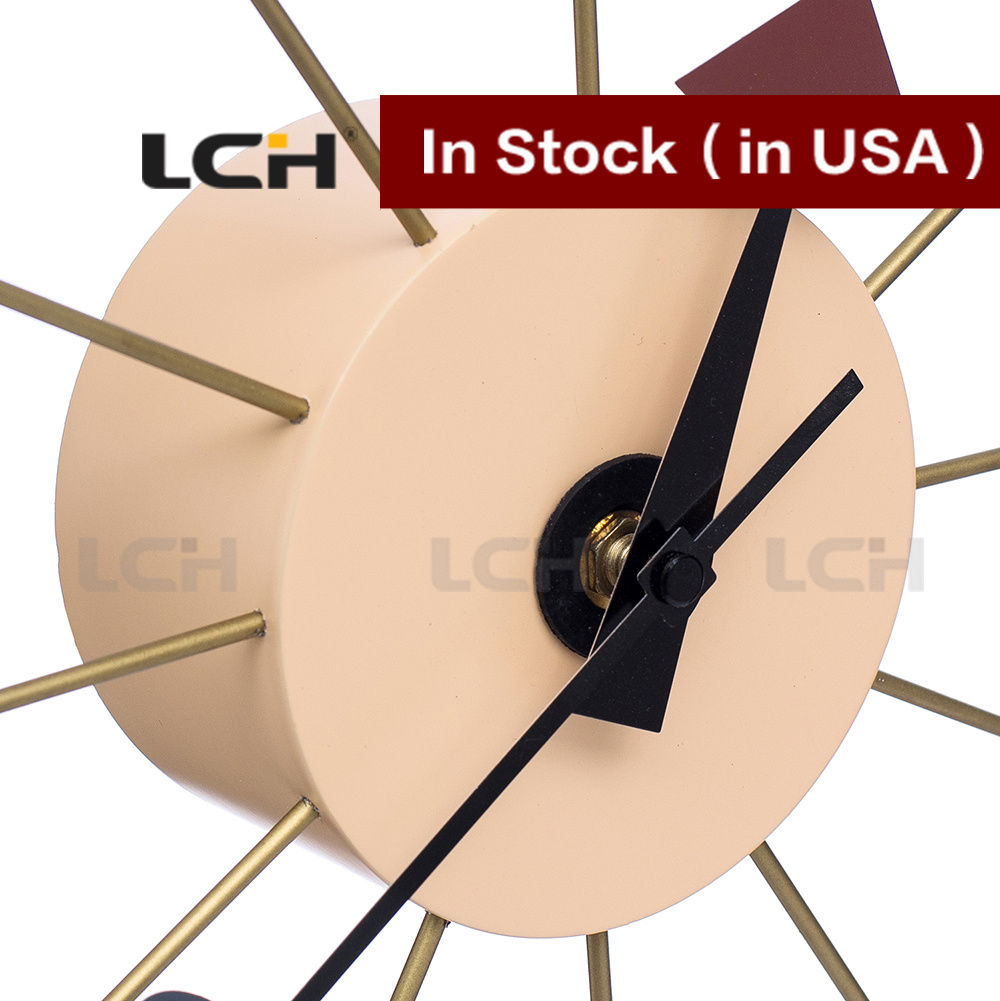 Art Multi Color Nelson Ball Wall Clock in Stock