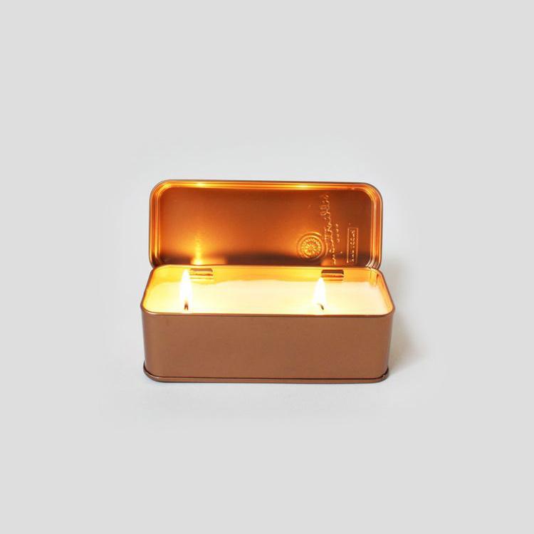 Christmas Candle Tins Wax Metal Tin Box Hinged