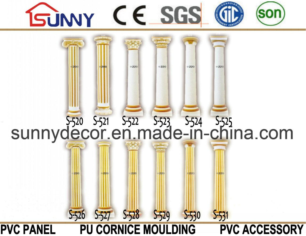 Modern European Polyurethane Roman Column PU Carved Design Column