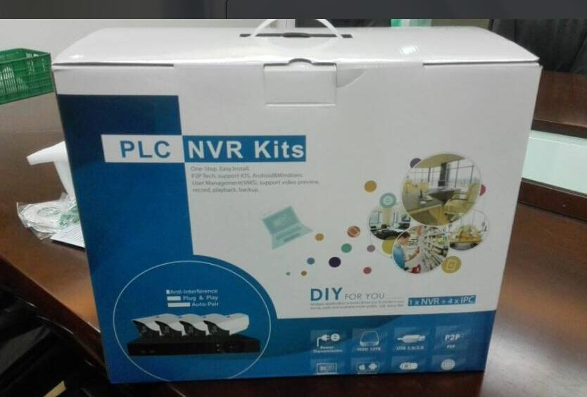 CCTV System Powerline Communication PLC NVR Kit (PLCA9104WH20)