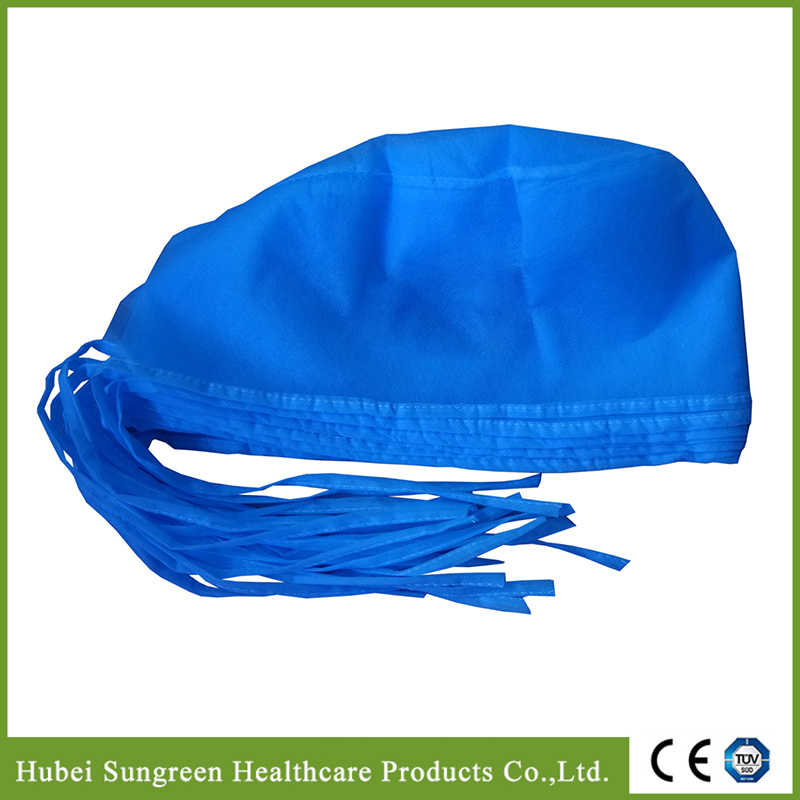 Disposable Nonwoven Surgical Cap, Doctor Cap with Ties