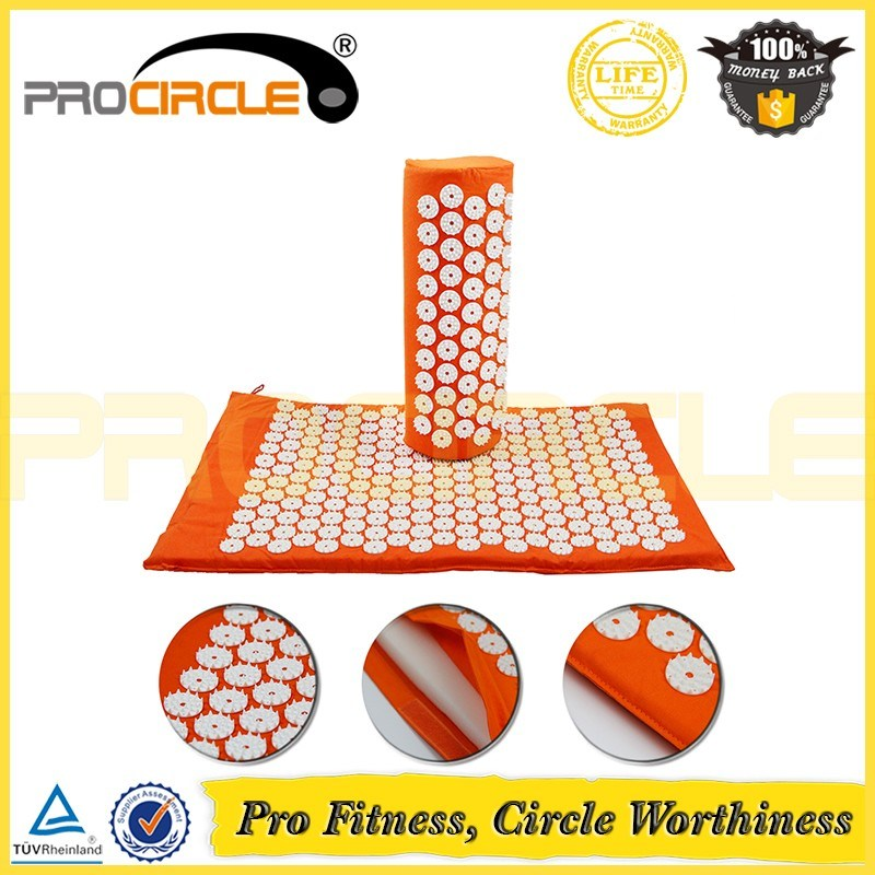 Pain Relief Stress Acupressure Massage Mat with Pillow