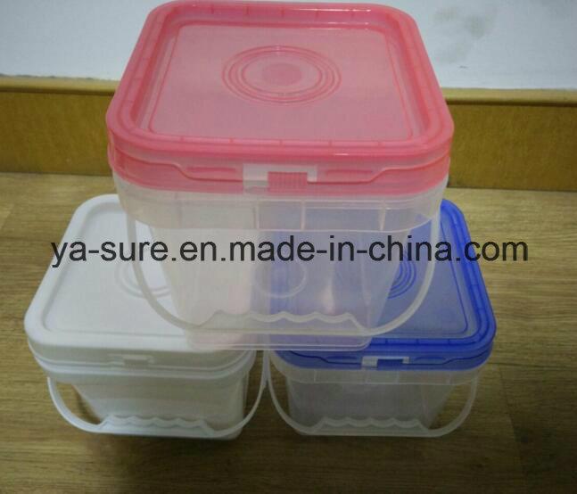 2L Transparent Square Plastic Bucket for Hardware