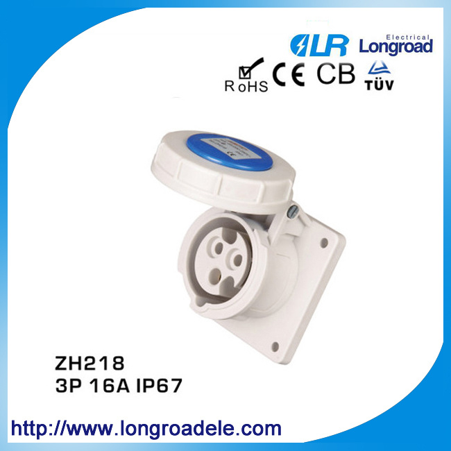 IP67 16A 3 Pin Electric Industrial Plug and Socket