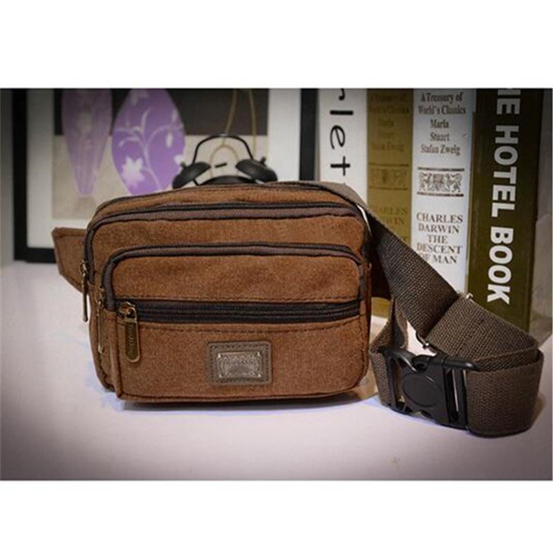 Men′s Waist Bag Fashion Casual Bag Men′s Pocket Canvas Chest Bag (GB#517)