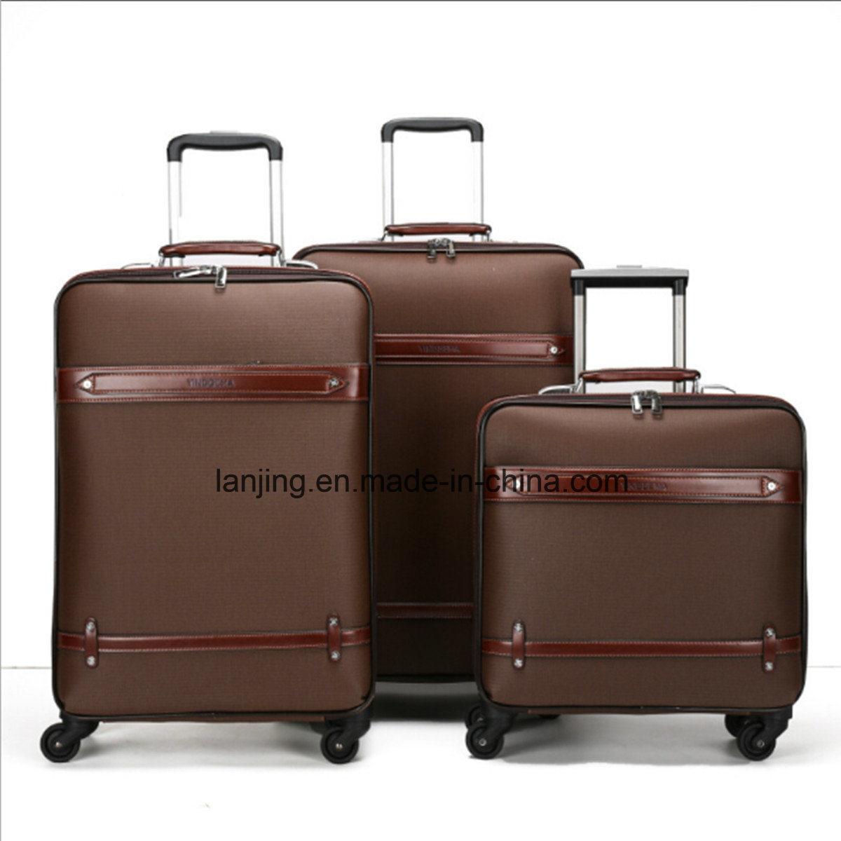 Canvas Trolley Travel Luggage, Softside Laptop Trolley Bag