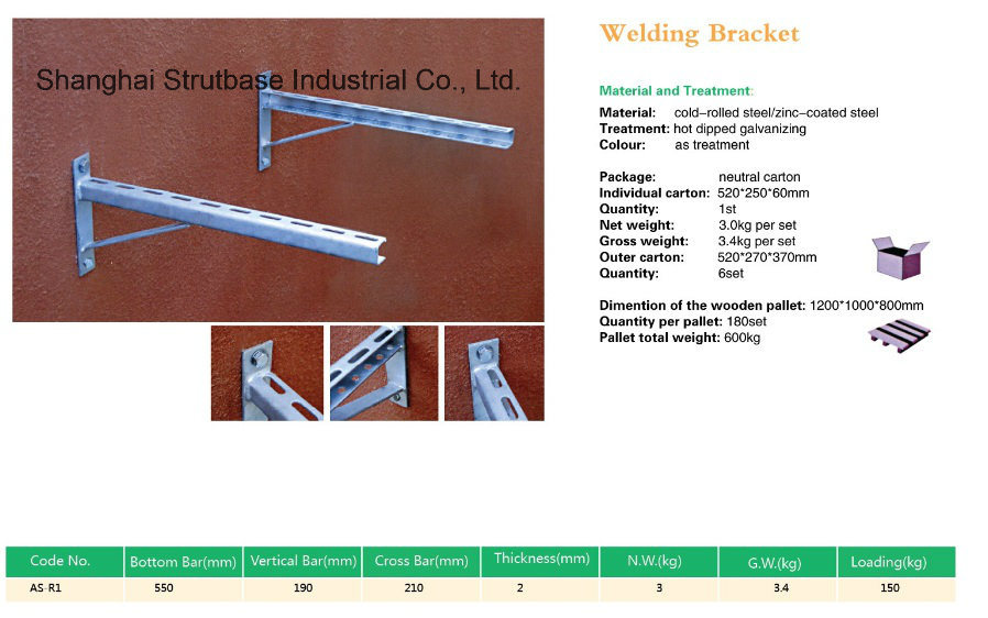 Welding Wall Bracket / Air Conditioner Bracket