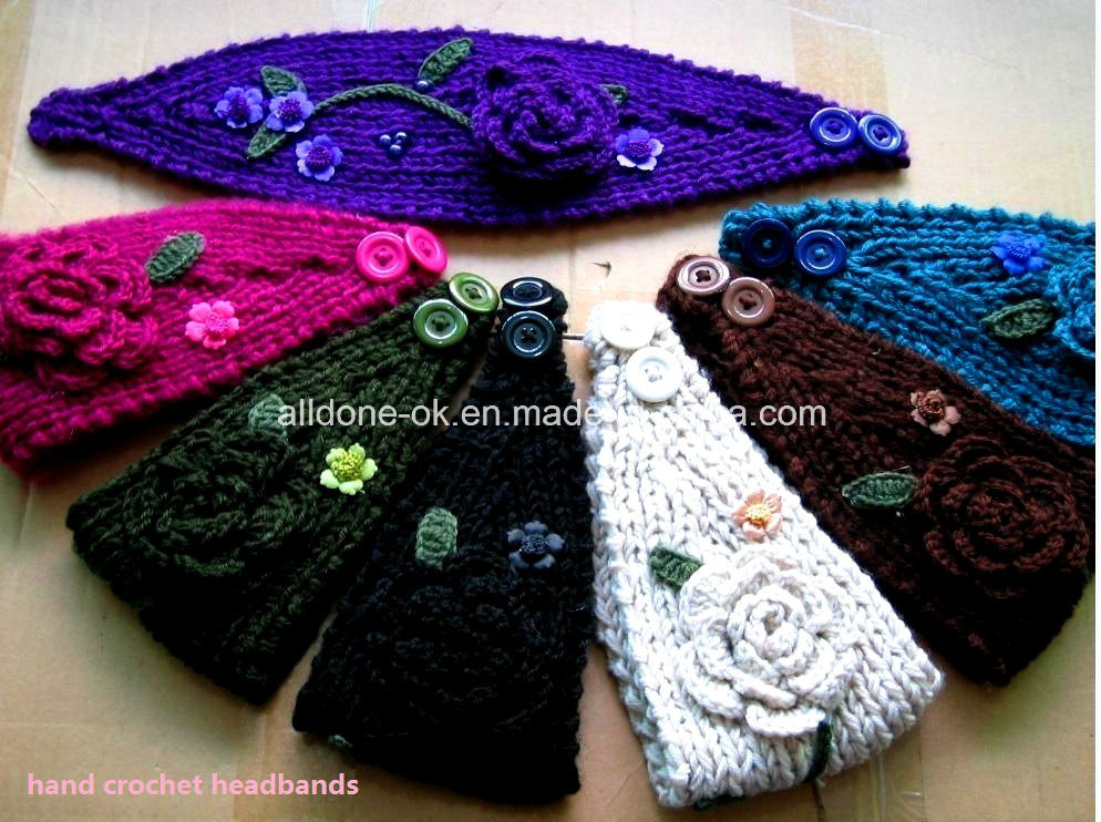 Custom Fashion New Design Hand Knitted Ladies Headband Neckwarmer Turban