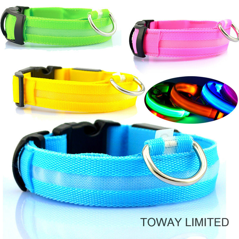 Grid Buckle Quality Pet Products Classic LED Dog Collars