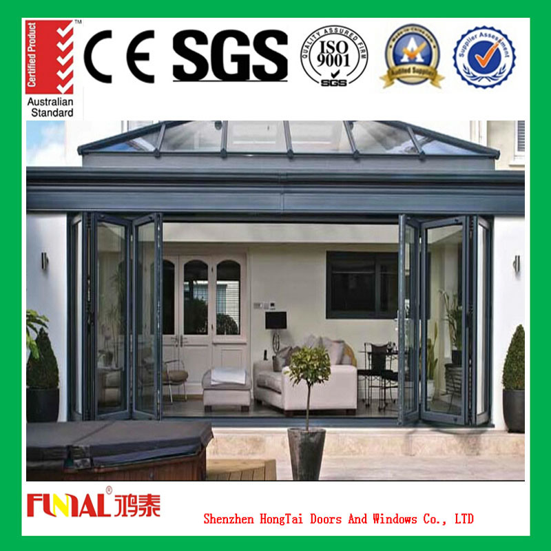 Aluminum Folding Window and Door for Construction and Decoration