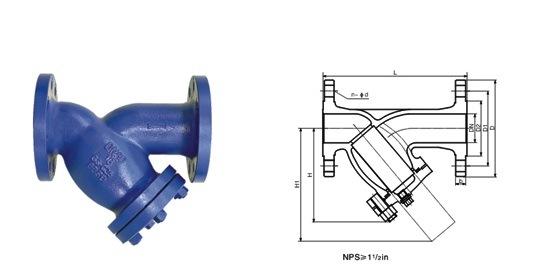 DIN/ANSI/GB/JIS/GOST Standard Y-Type Strainer