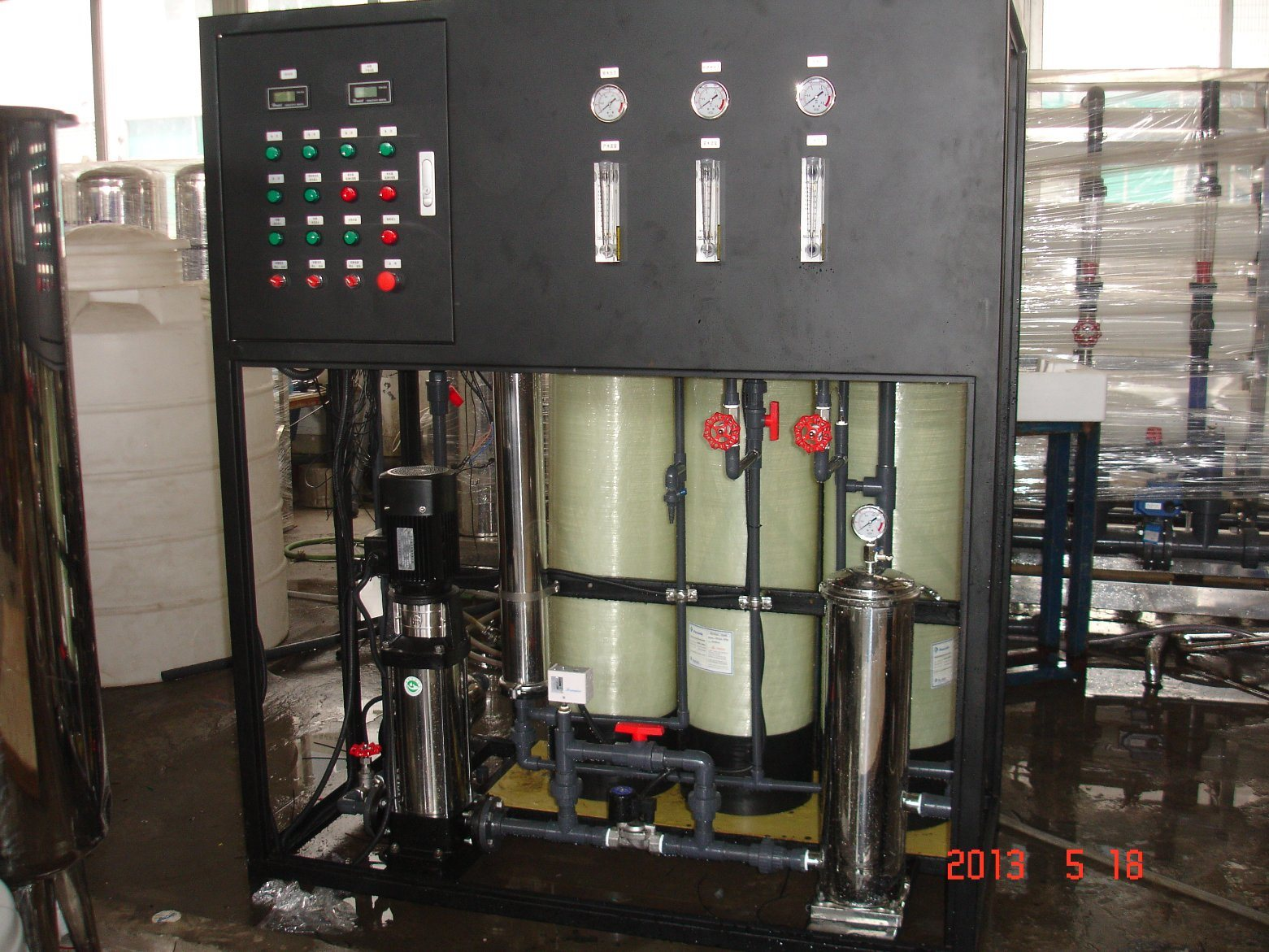 250lph RO UV Lamp Drinking Water Treatment Machine