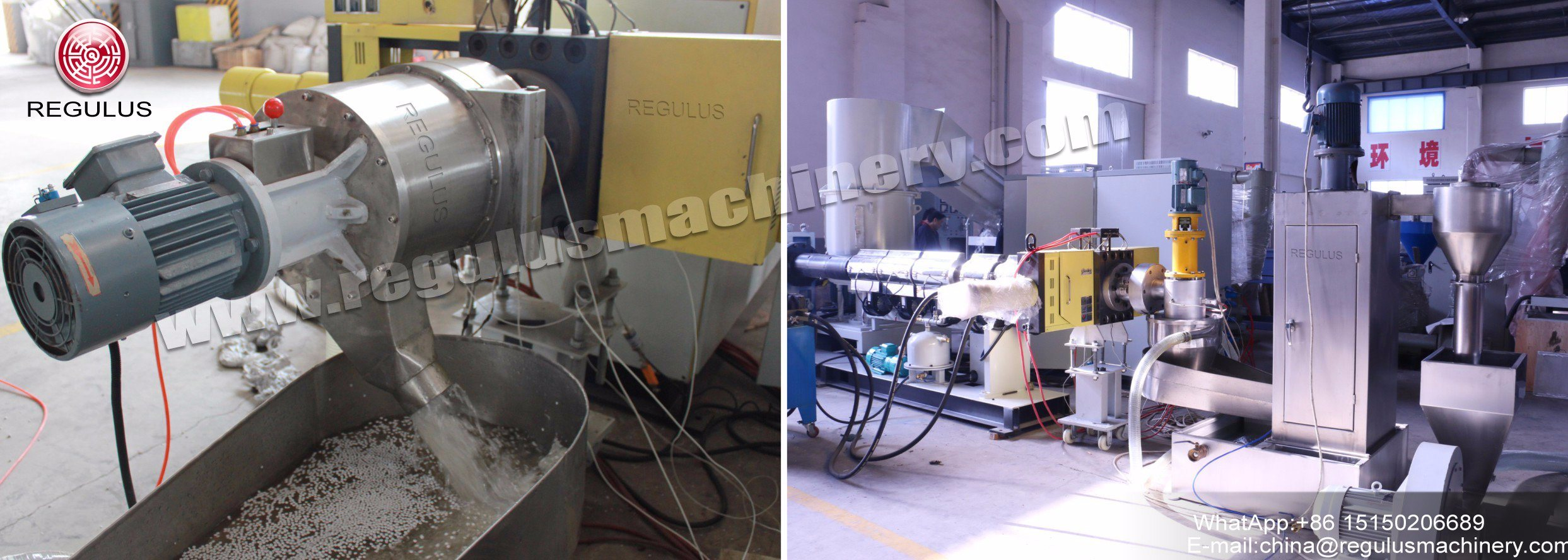 Die Cutting Extruder Plastic Granulating Line