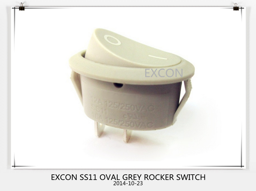 Oval Push Rocker Switch Ss11 Series with Excon Mark Rocker Switch for Copier