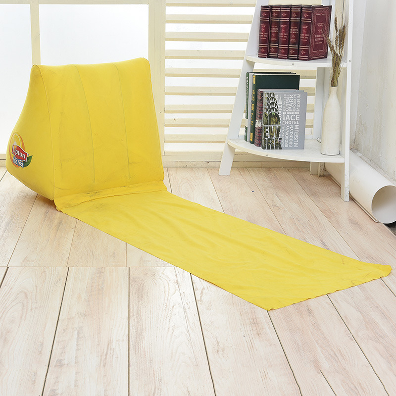 Inflatable PVC Flocking Beach Triangle Pillow Blanket with Seat