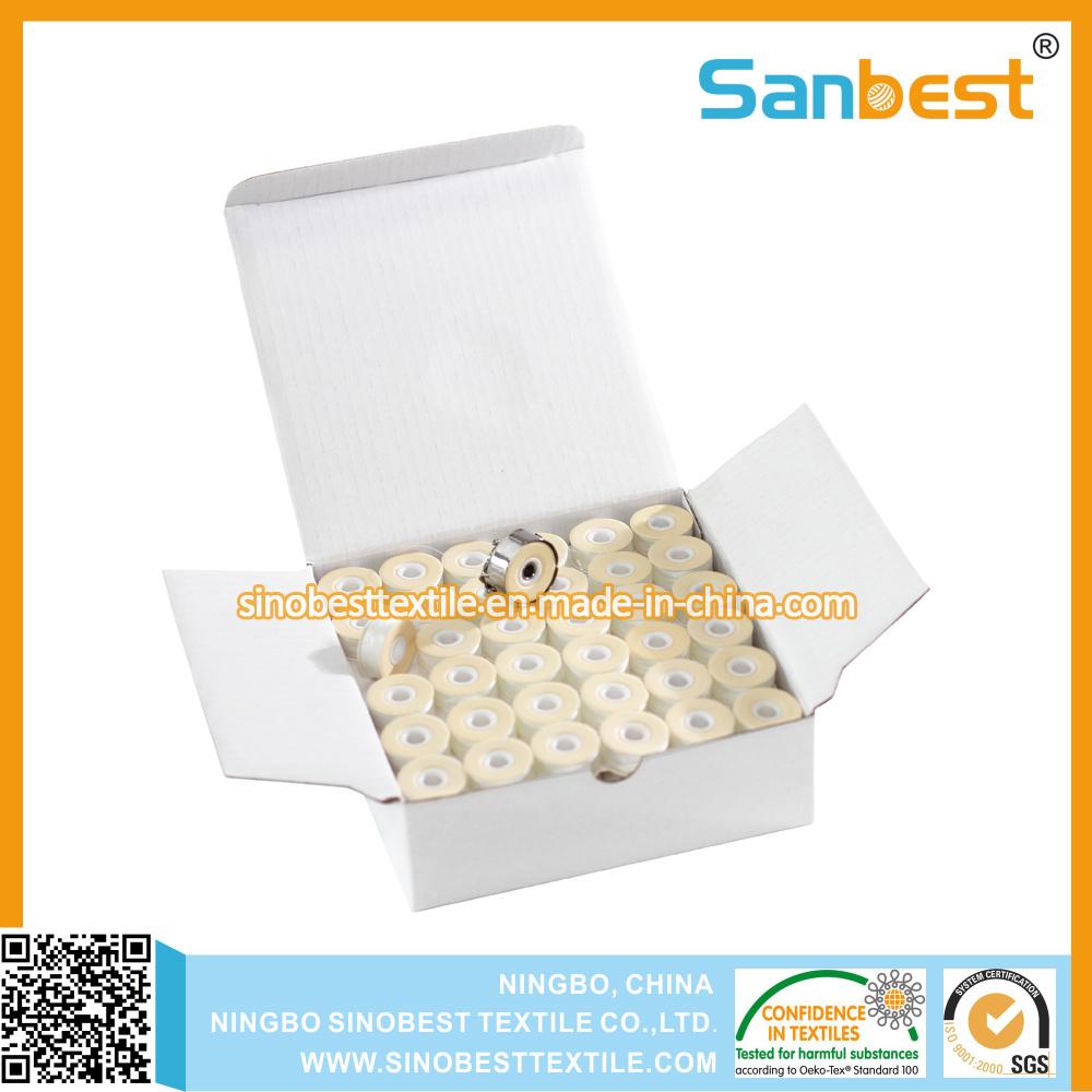 Sideless, Cardboard Sided, Plastic Sided Pre-Wound Bobbins Thread for Embroidery Purpose