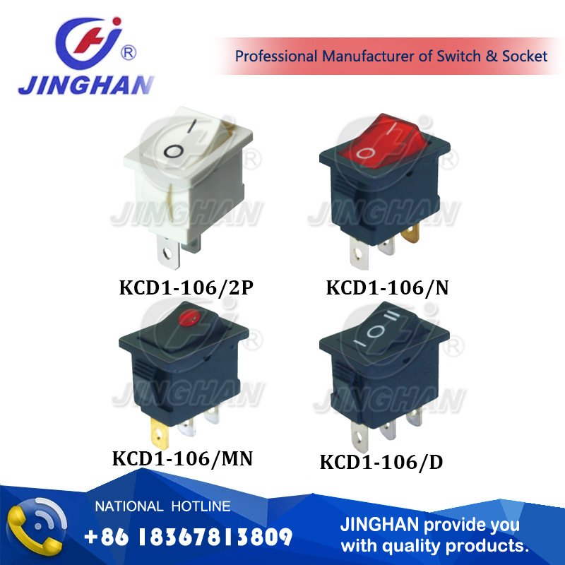 Kcd1-106 21*15mm Electric Rocker Switch Ce TUV CQC RoHS