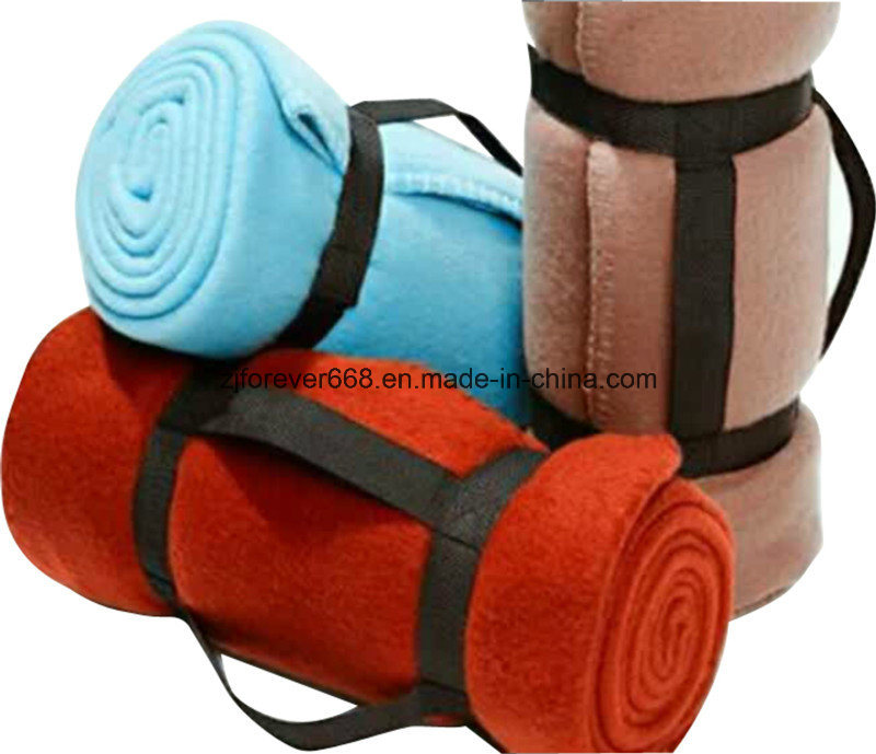 Competitive Price Plain Color Different Size Portable Camp Blanket