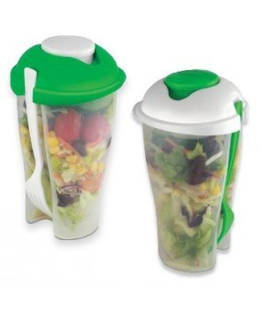 Manax Salad-to-Go Cup with Dressing Container Salad Cup 2 Go for on The Go