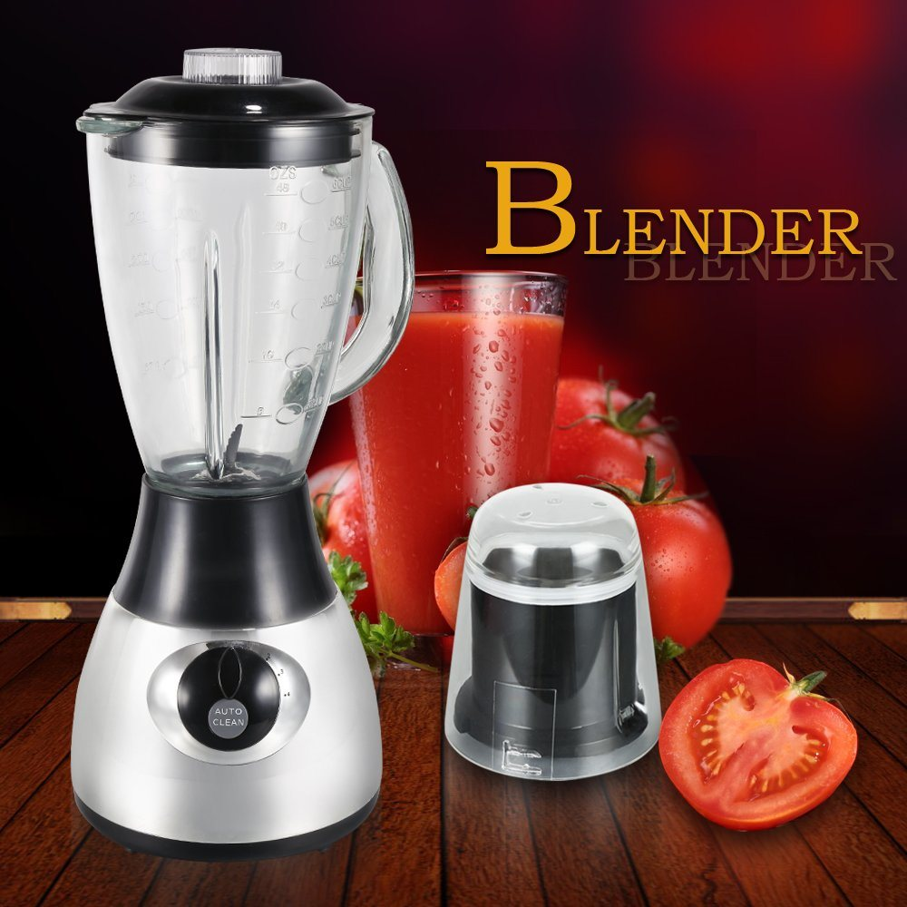 Hot Sales High Quality Low Price CB-By44hg Glass Jar Chrome Silver Color Electric Blender