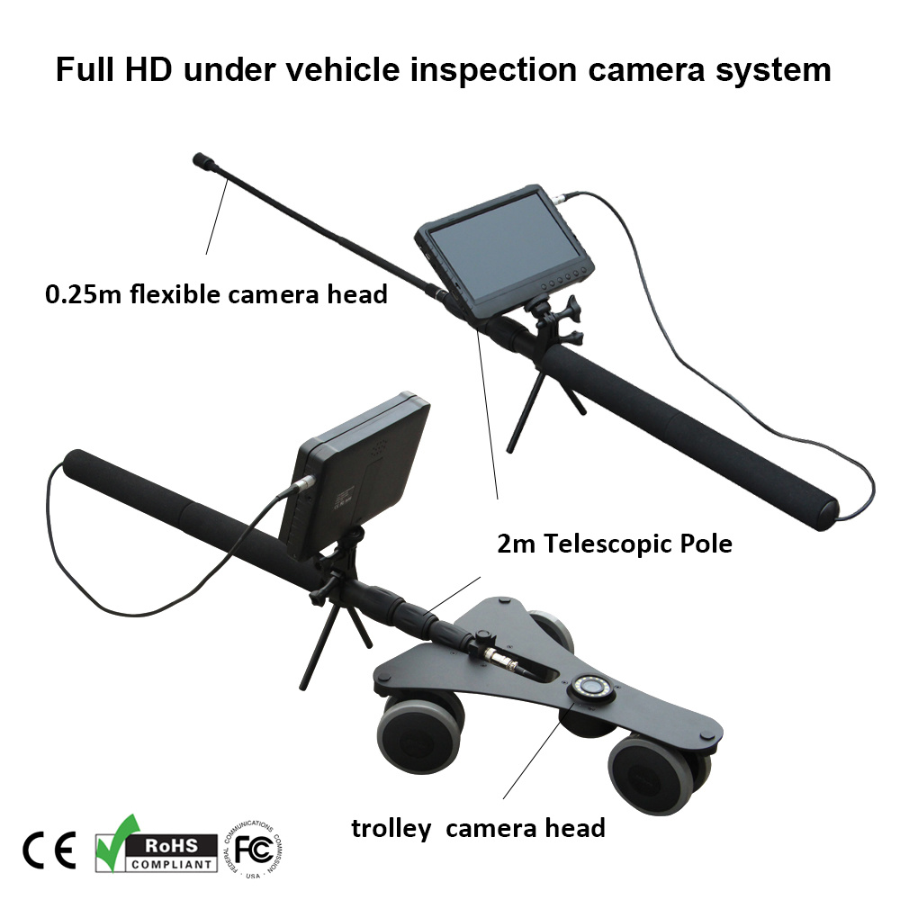 Handheld Digital HD Under Vehicle Inspection Camera System with 7 Inch LCD DVR (H2D-300)