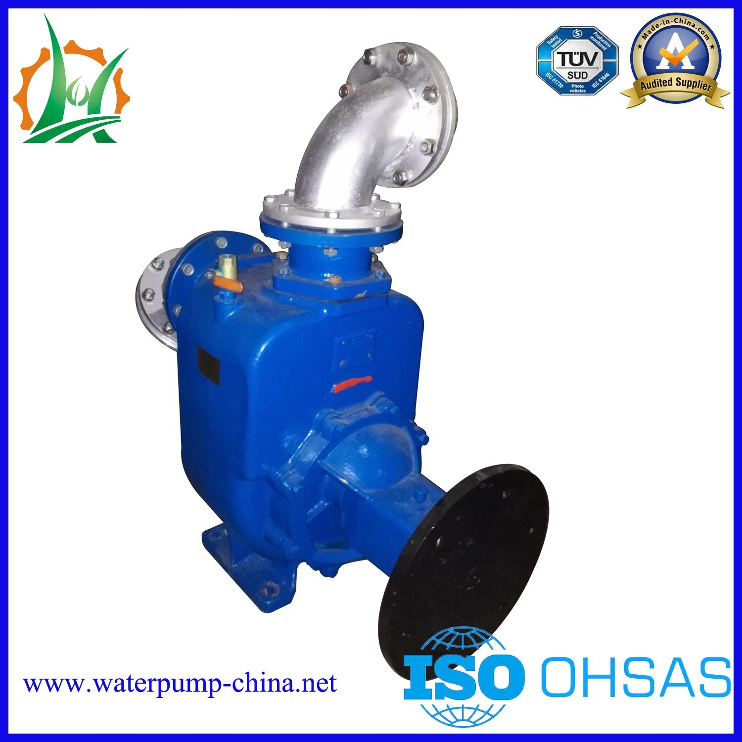 Non-Clogging Centrifugal Self-Priming Sewage Water Pump Trailer Sets