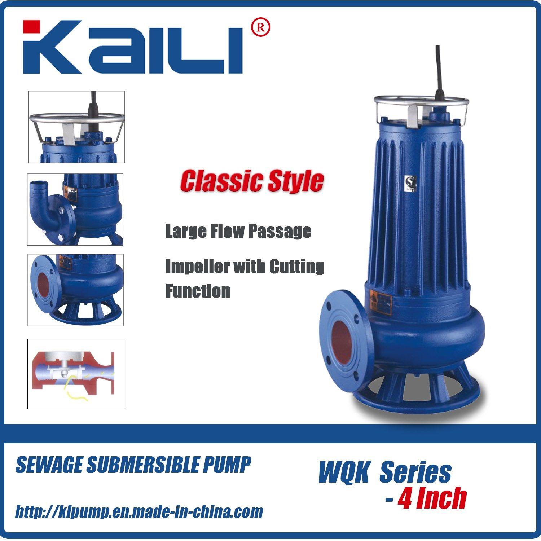 4′ WQK Cutting Sewage Submersible Pump