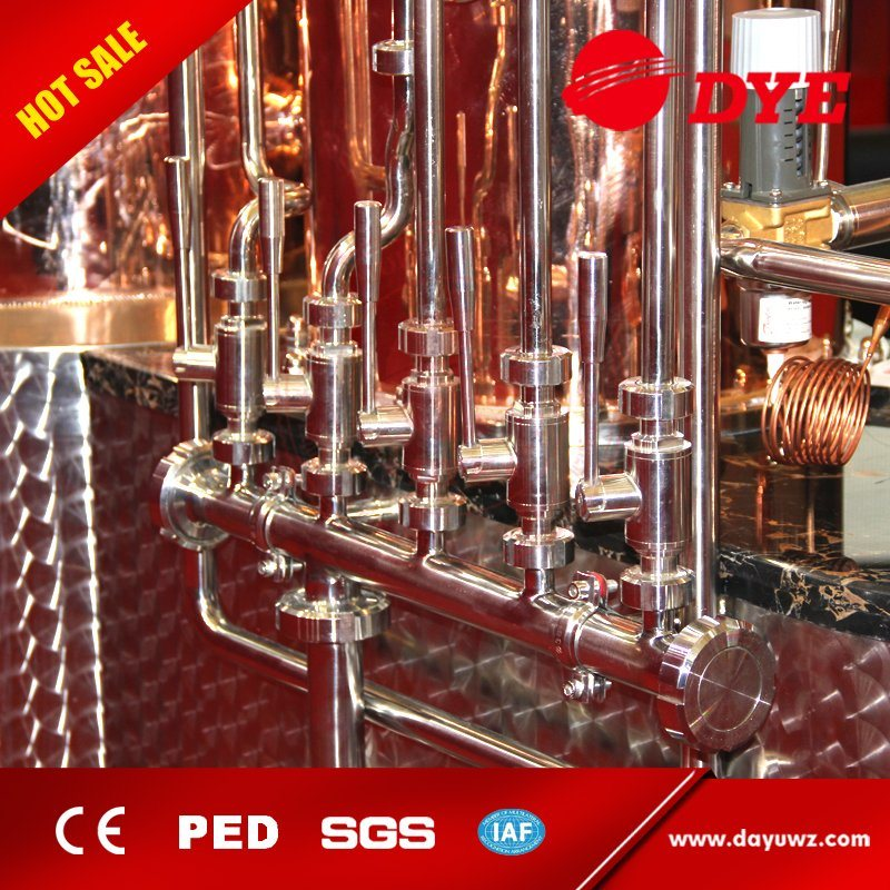 Made in China 1000L High Quality Beer Copper Stills Distillery Equipment