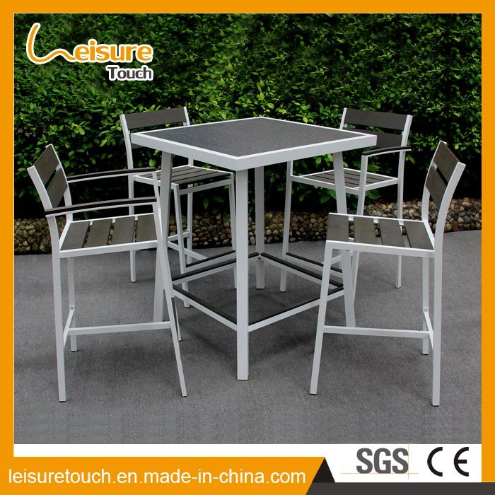 Stackable Aluminium Plastic Wood Outdoor Restaurant Furniture Bar Chair Table Set