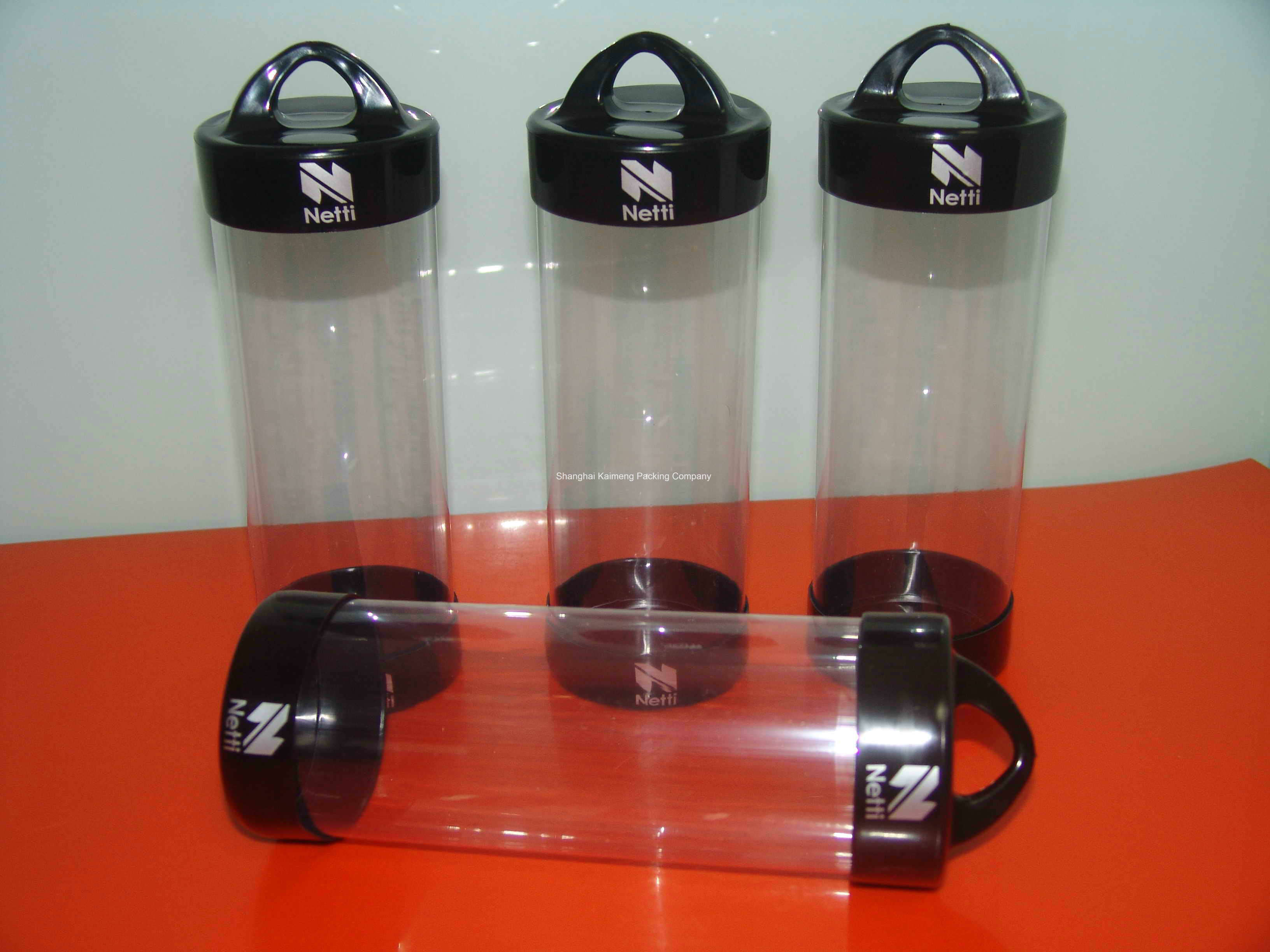 China Factory Supply Plain Pet Plastic Packaging Tube with 2 Caps (packaging tube)