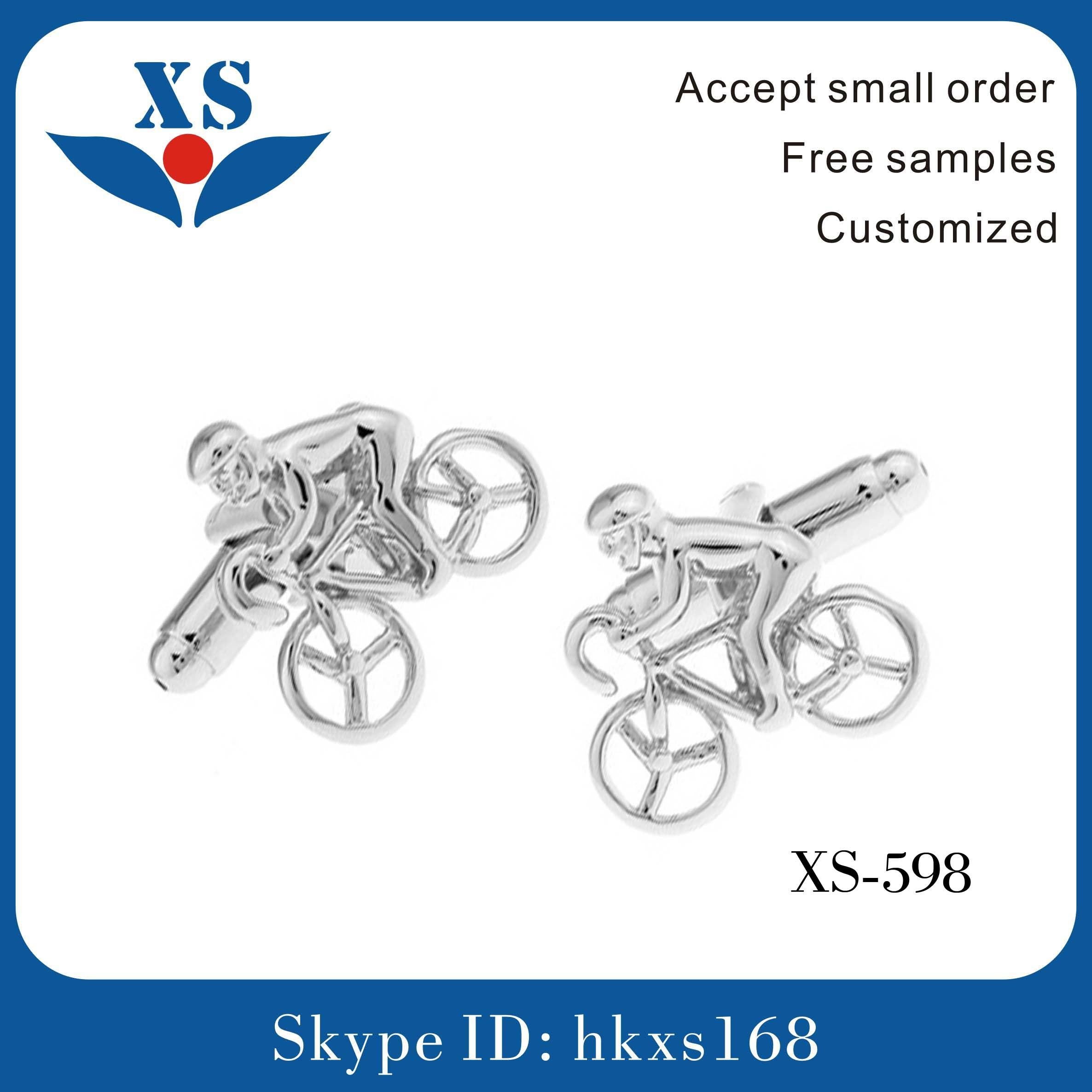 New Style Custom Metal Cufflink with Rope