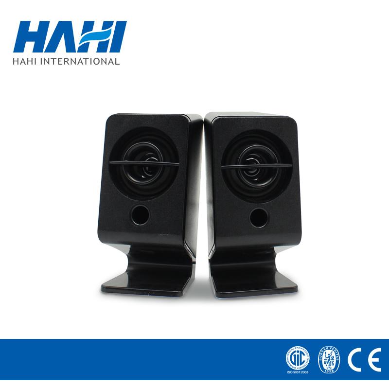 Mini USB Amplifier Multimedia Loudspeaker Wooden Digital Stereo Speaker
