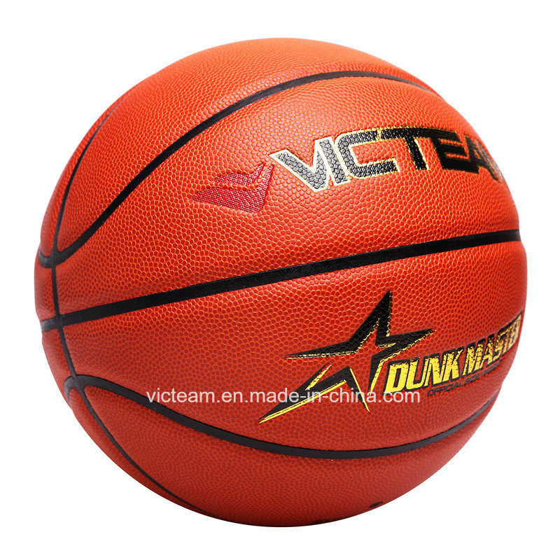 Custom Logo PU Leather Size 7 6 5 Match Basketball
