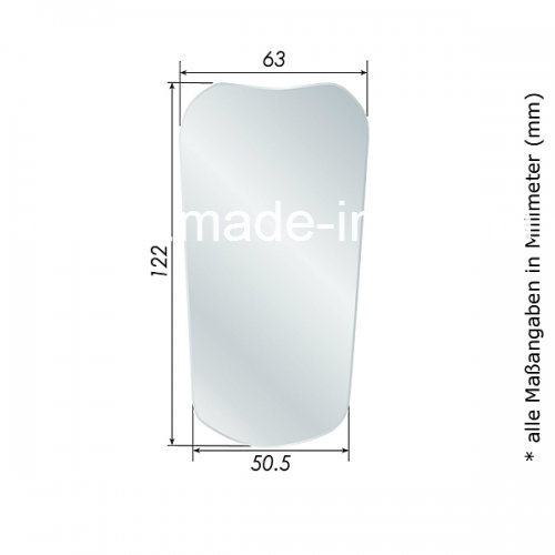 Photo Mirror Stainless Steel of # 05 Front Surface, Child, Occlusal