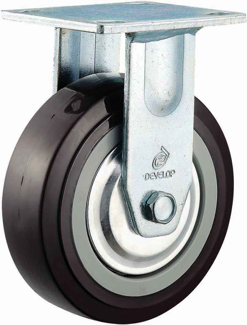 4/5/6/8 Inch Heavy Duty Black PU Castor Wheel Industrial Swivel PU Caster