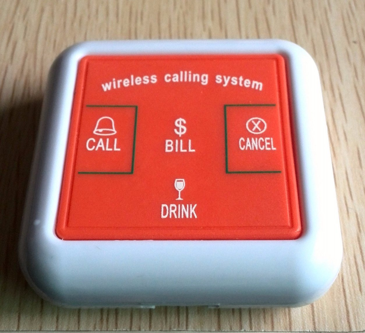 Restaurant Wireless Service Calling System Waiter Buzzer Call Waiter Remote Call Bell Ce Passed