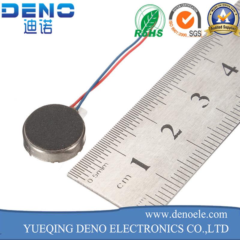 3V DC Flat Coin Type Vibration Motor for Mobile Phone