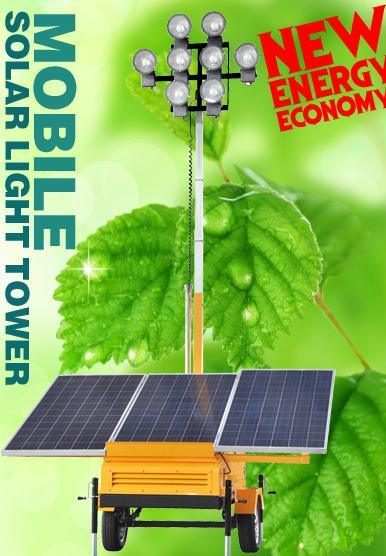 Mobile Solar Lighting Tower (DE450Q4B)