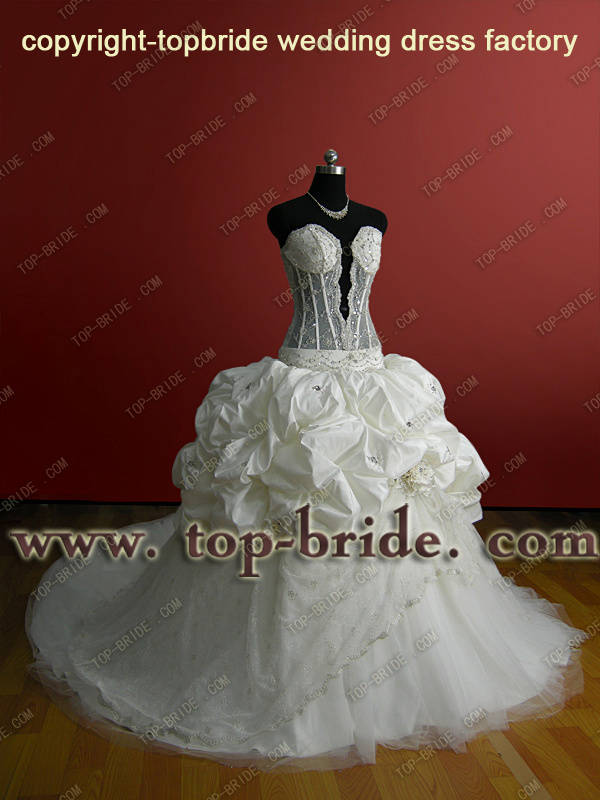 Saudi Arabia Wedding Dress Bridal Wedding Gown Bridesmaid Dress ABS001