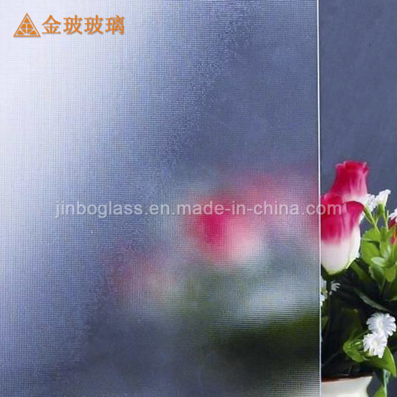 Clear Frosted Patterned Decorative Glass