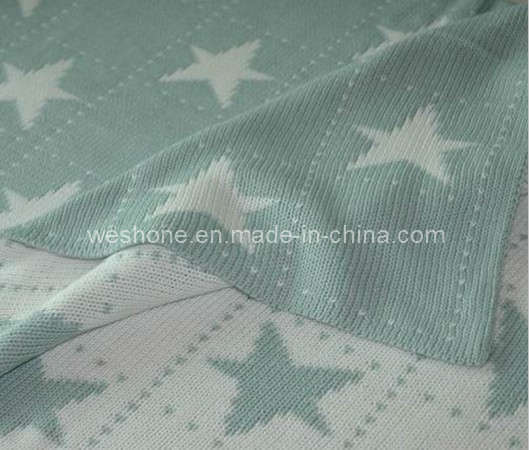 100% Cotton Knitted Soft Baby Blanket