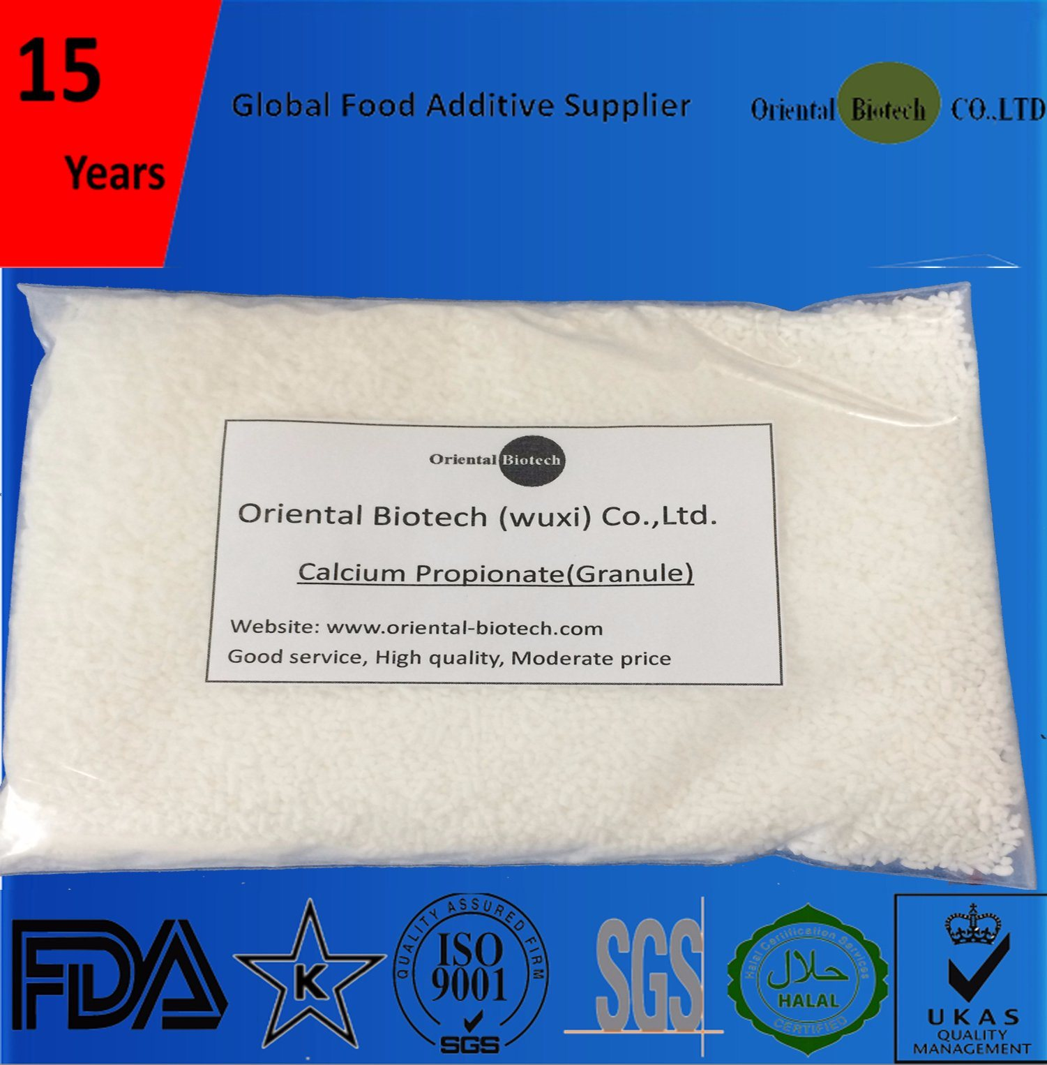 Preservative Food Grade E282 Calcium Propionate