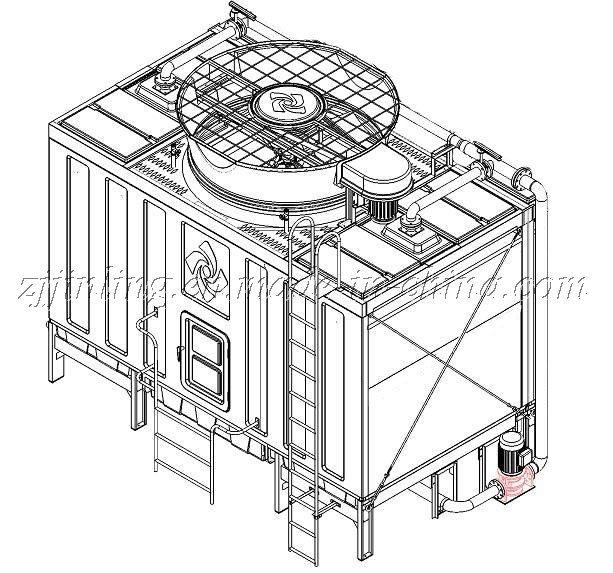 CTI Certified Cross Flow Closed Type Cooling Tower JNC Series