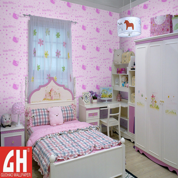 Comwallpaper For Kids Rooms : ... Kitty Wallpaper for Kids Room (67121) - China Wallpaper, Wall Murals