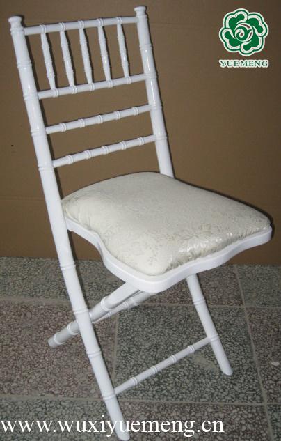 White Folding Wooden Chivari Chair 1104W China White Wooden Chivari Chair