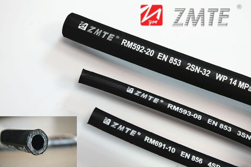 SAE 100r2at Steel Wire Braided of Hydraulic Rubber Hose