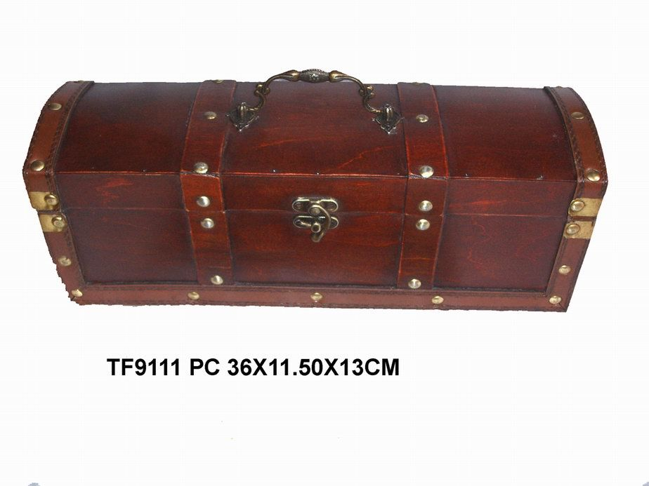 Antique Wooden Wine Box (TF9111) - China wooden craft, wooden wine box
