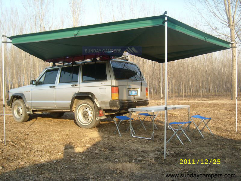 Awnings For Cars : Trailer tent awnings rainwear
